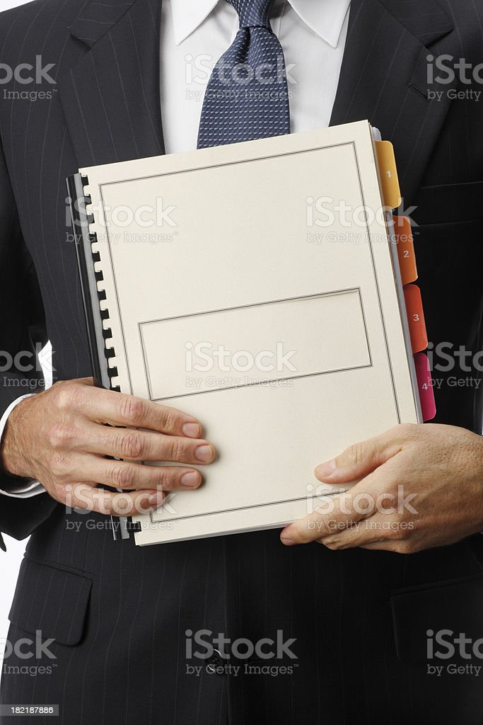 Businessman Holding Report royalty-free stock photo