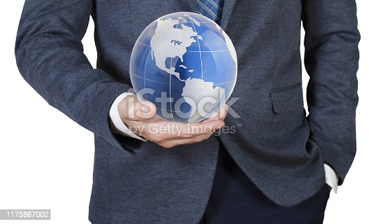 638813890istockphoto Businessman holding the world in his hands 1175867002