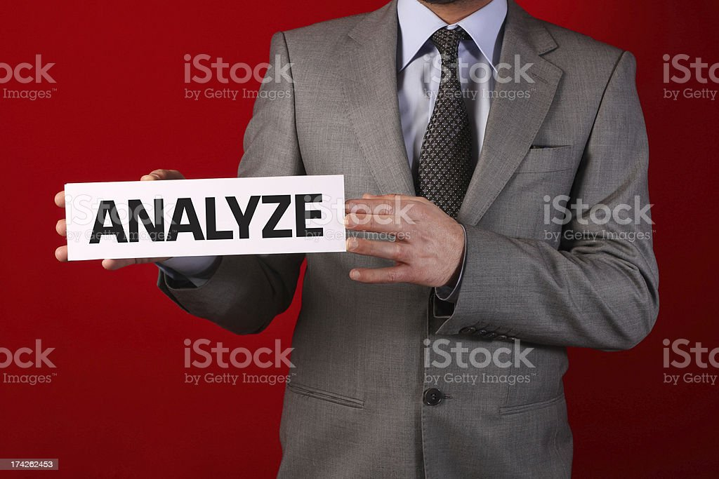 Businessman Holding Whiteboard royalty-free stock photo
