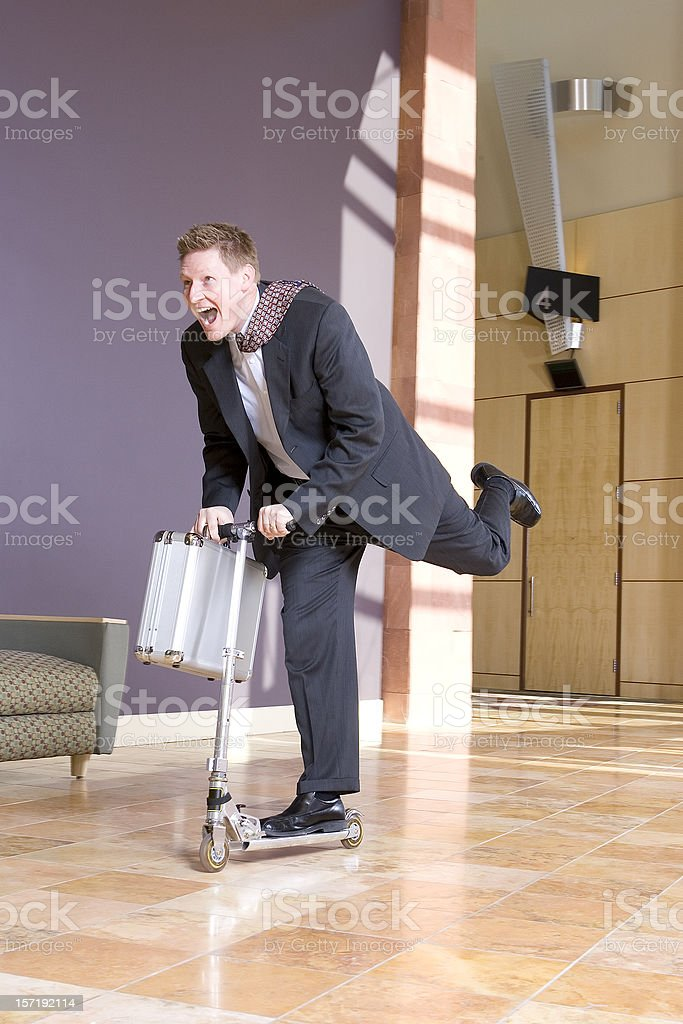 Businessman Hurrying to Meeting royalty-free stock photo