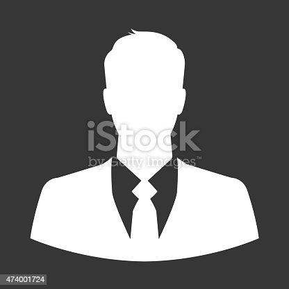 istock Businessman icon as avatar or default profile picture 474001724