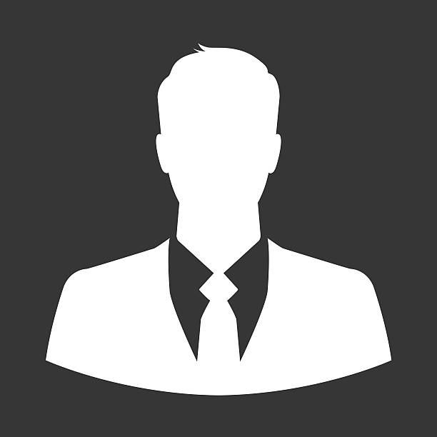 Businessman icon as avatar or default profile picture stock photo