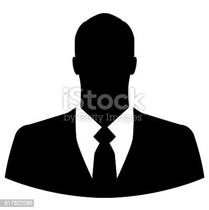 istock Businessman icon on white background 517322295