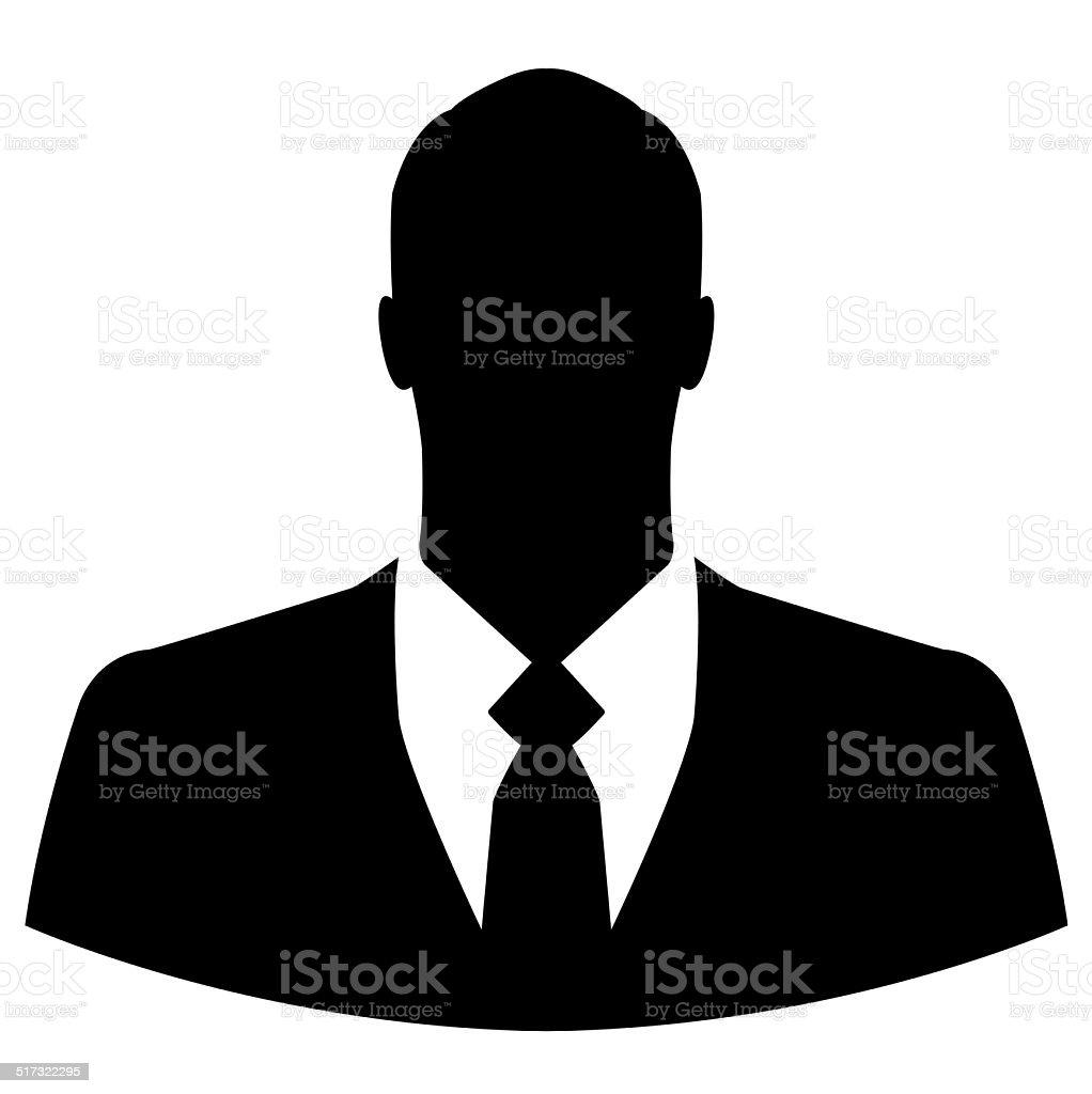 Businessman icon on white background stock photo