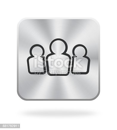 istock Businessman Icon With Metal Texture 531752911