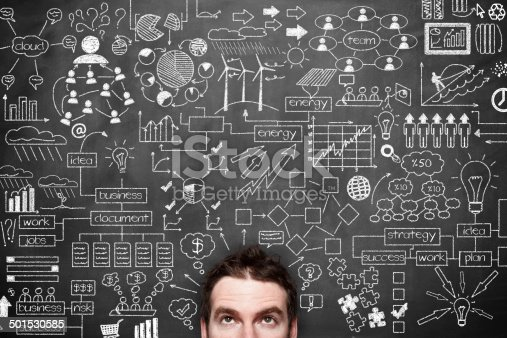 istock Businessman Idea Concept on blackboard 501530585