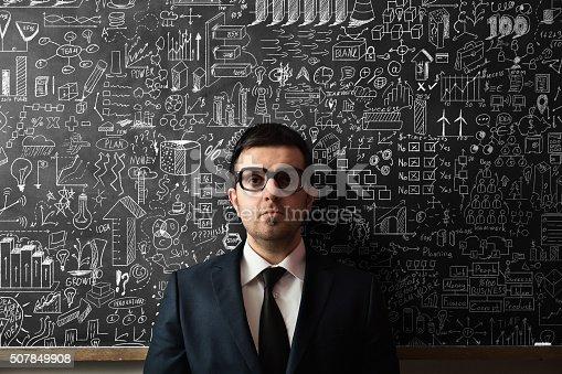 515913038 istock photo Businessman Idea Concept on blackboard 507849908