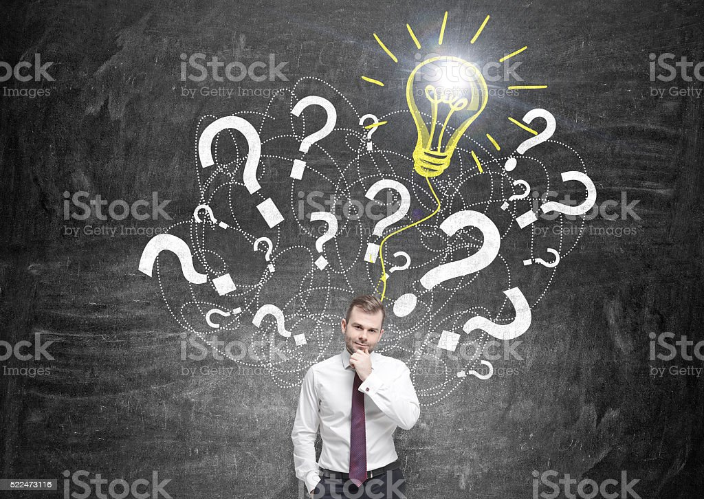 Businessman idea concept stock photo