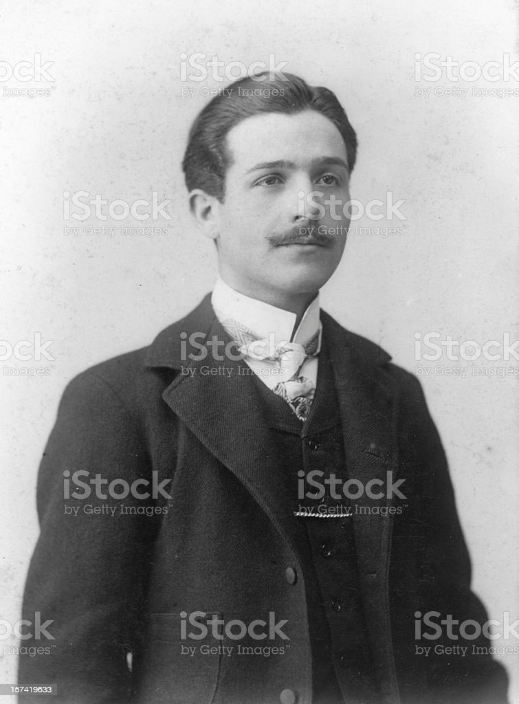 Businessman in 1919.Black And White stock photo