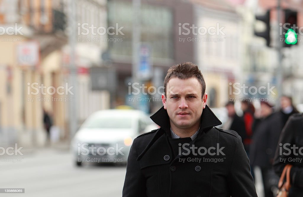 Businessman in a city royalty-free stock photo