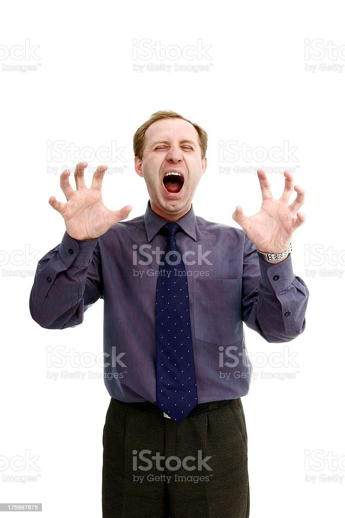 Businessman in a fury royalty-free stock photo