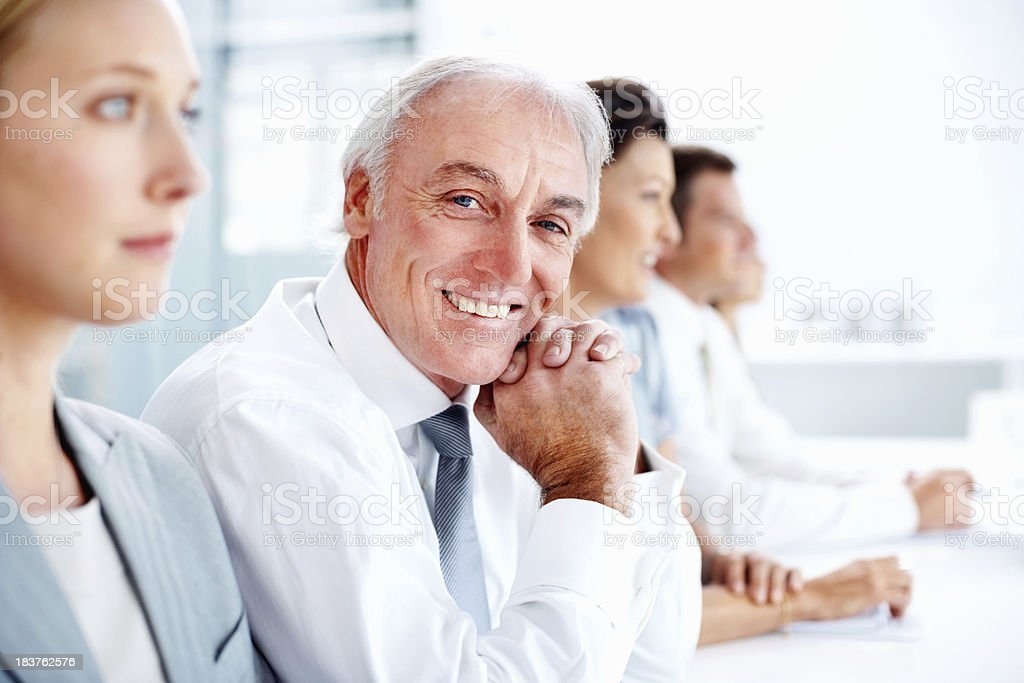 Businessman in a meeting royalty-free stock photo