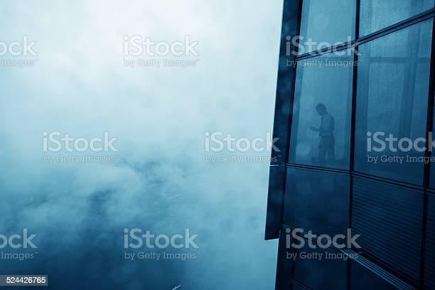 Photo of businessman in a skyscraper