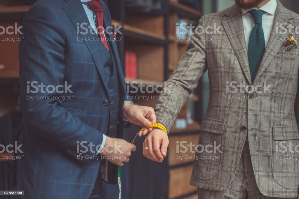 Businessman in a suit stock photo