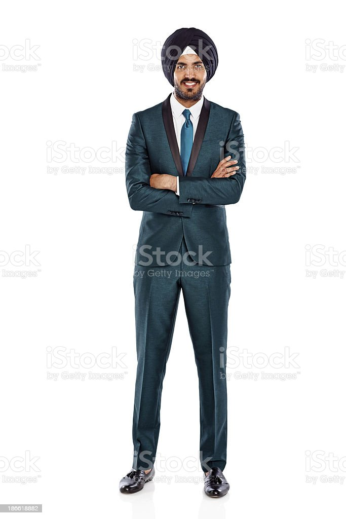 Businessman in a turban stock photo