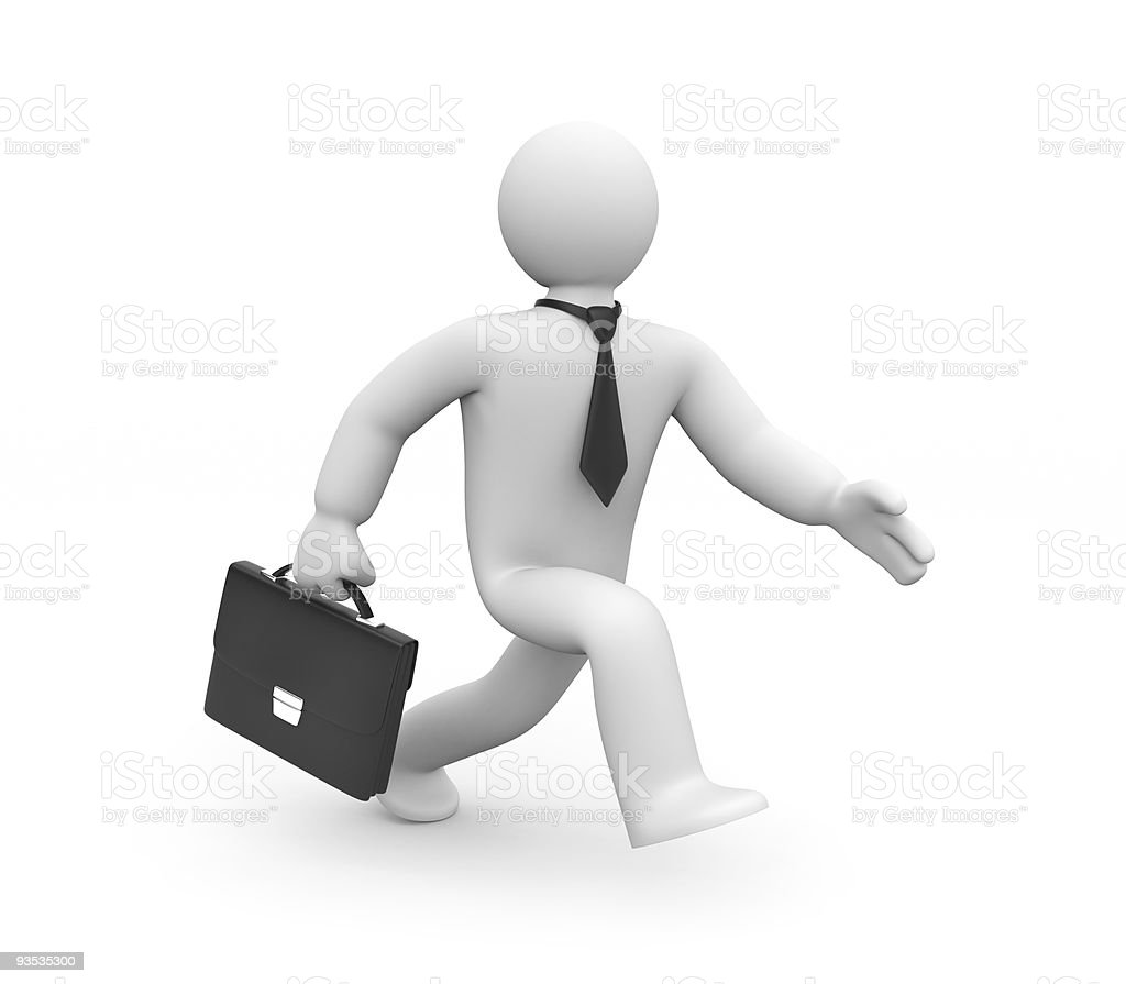 Businessman in action. Business concept. royalty-free stock photo