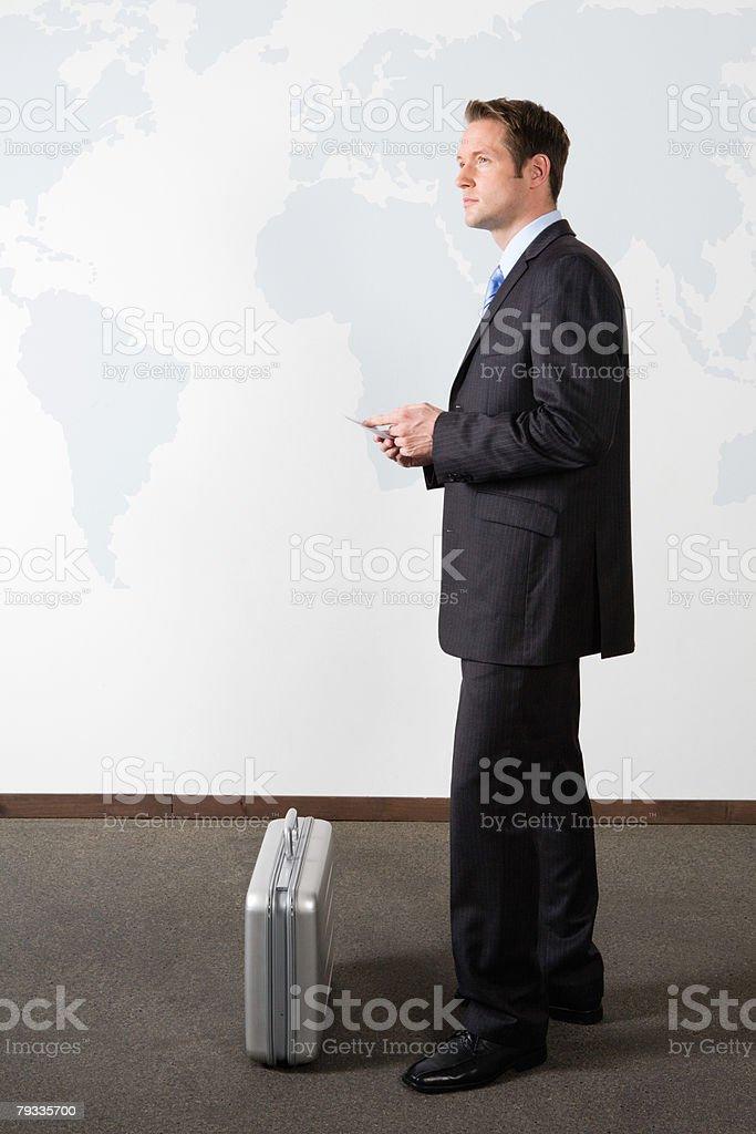 남자 사업가 공항 royalty-free 스톡 사진