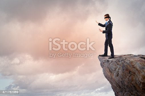 istock Businessman in blindfold 471782089