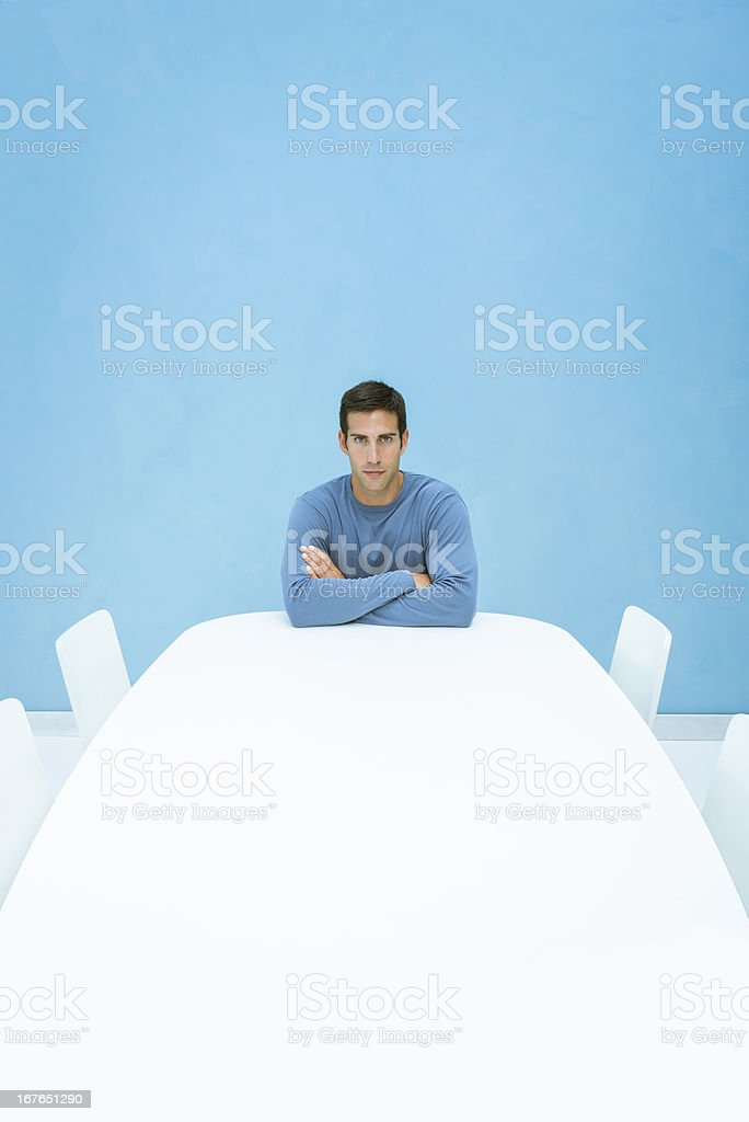 Businessman in board room royalty-free stock photo
