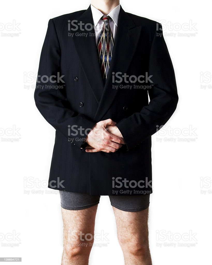 Geschäftsmann in Boxershorts, professionelle – Foto