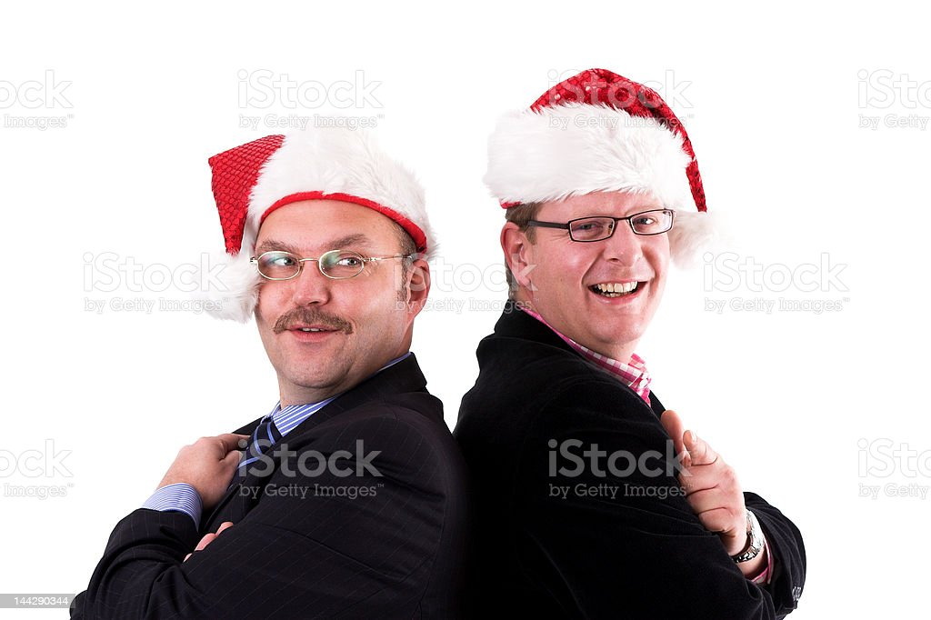 Businessman in christmas spirit royalty-free stock photo