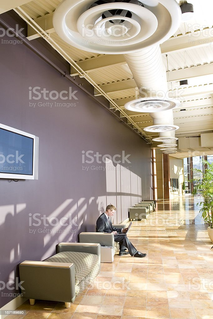 Businessman in Commercial Office Space royalty-free stock photo