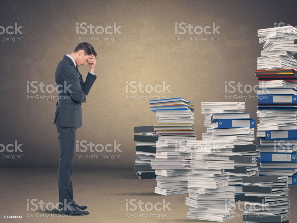 Geschäftsmann in Verzweiflung – Foto