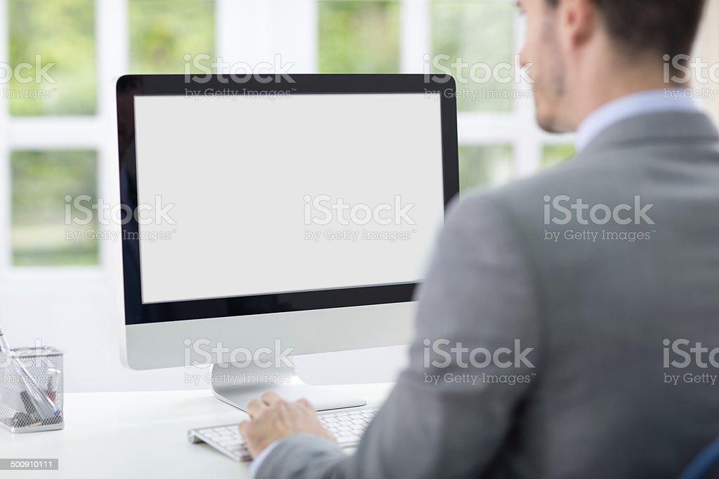 Geschäftsmann am computer – Foto