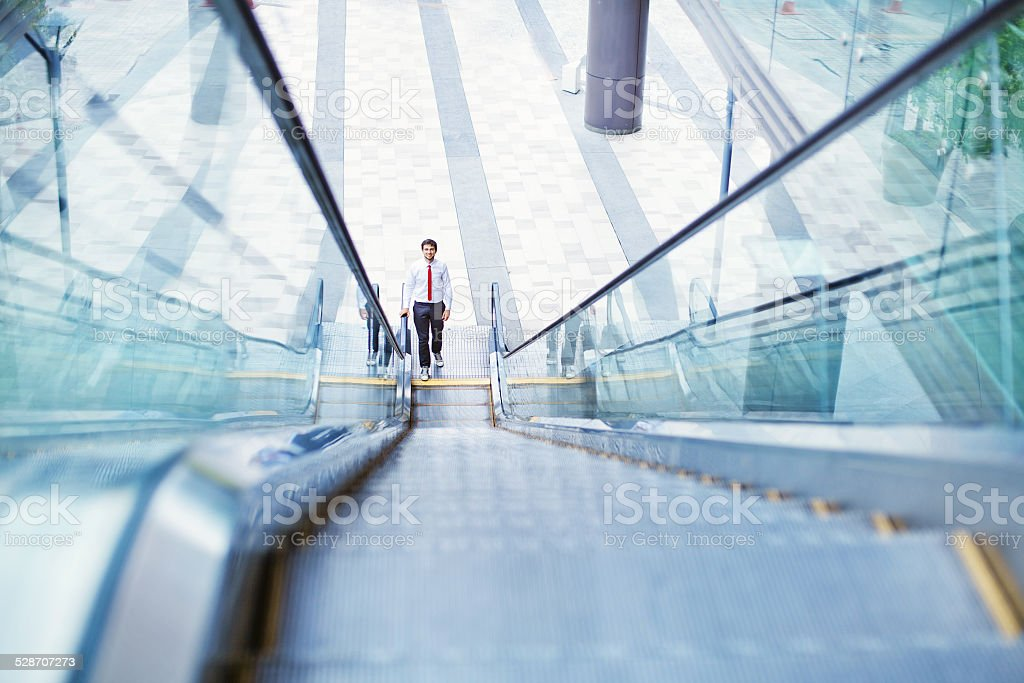 Businessman in high-tech interior stock photo