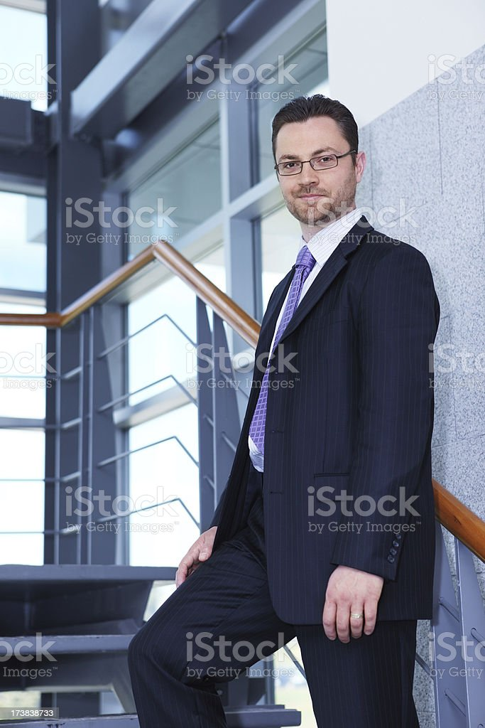 Businessman in modern hallway royalty-free stock photo