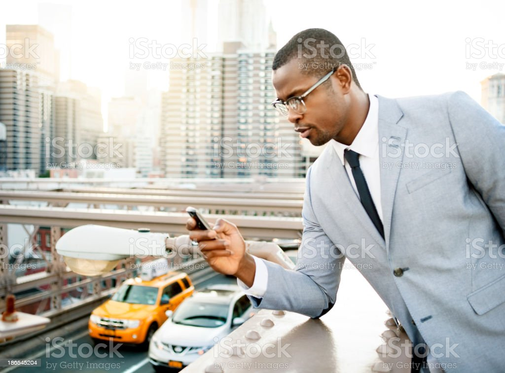 Businessman in New york royalty-free stock photo