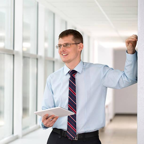 Geschäftsmann in Büro – Foto