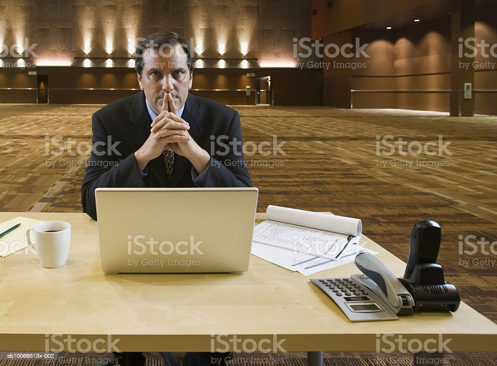 Businessman in office, portrait foto de stock royalty-free
