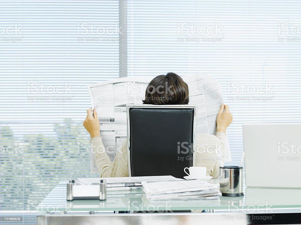 Businessman in office taking a break royalty-free stock photo