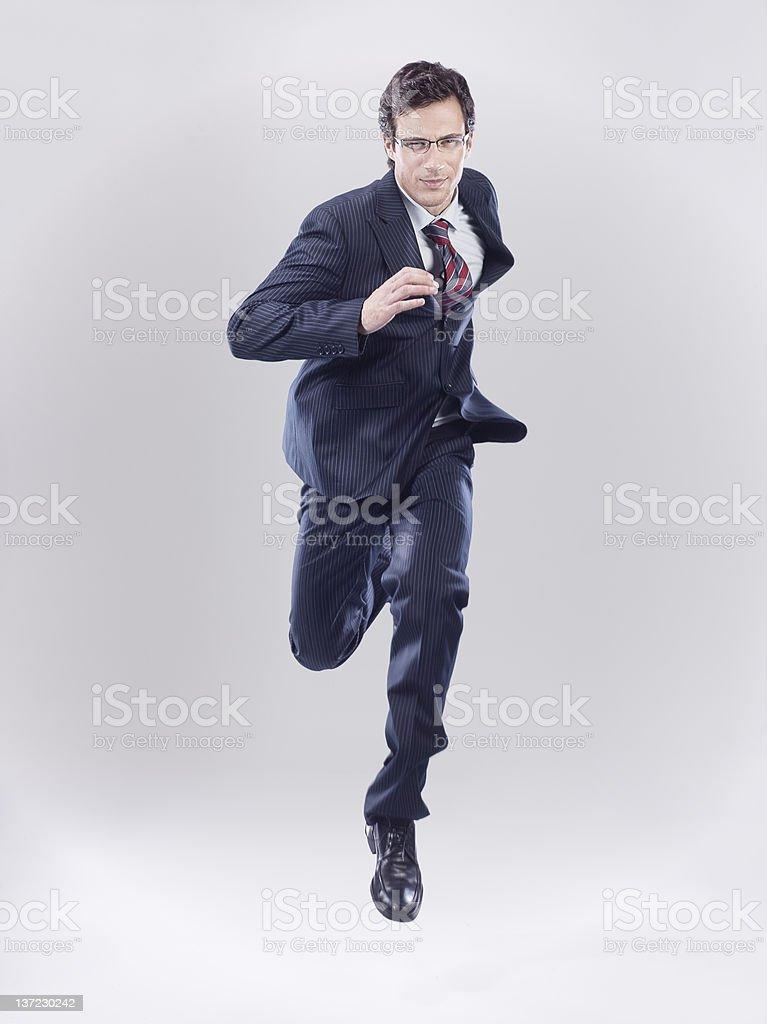 Empresario en rush - foto de stock
