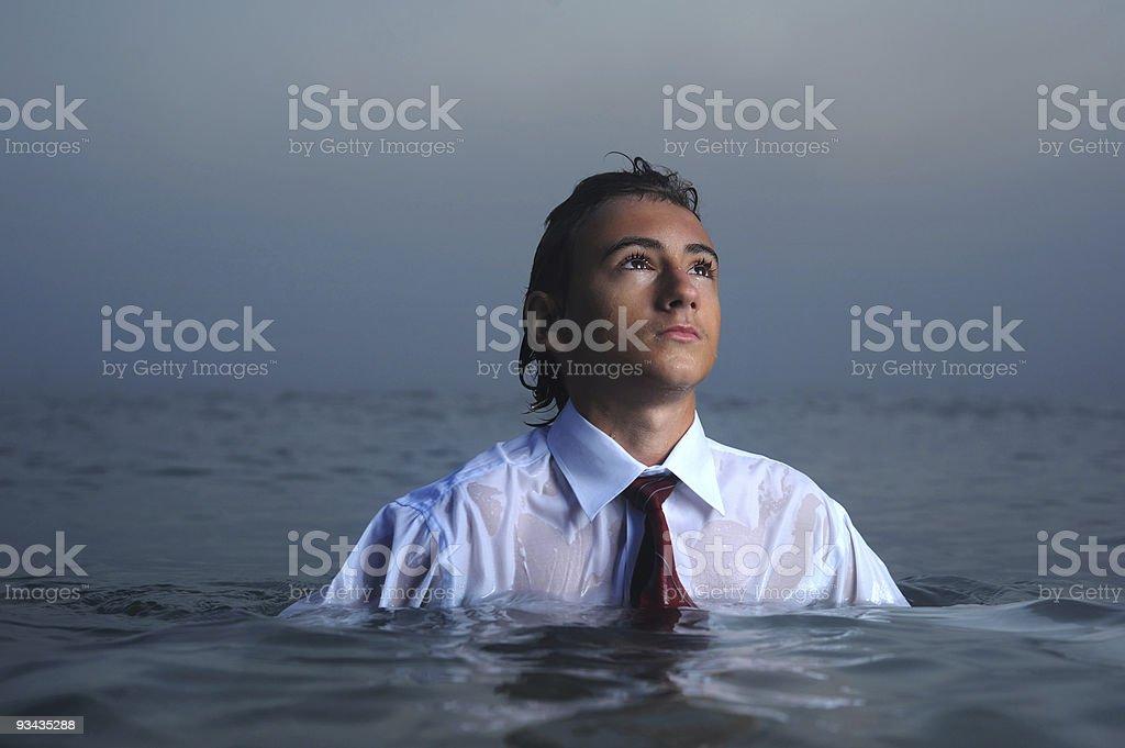 Geschäftsmann am Meer Lizenzfreies stock-foto