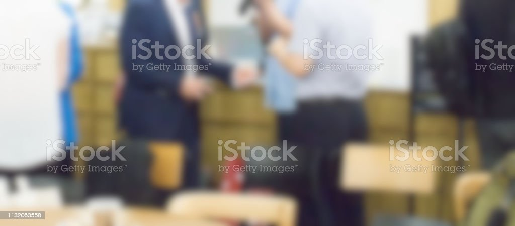 Business People Networking, Receive Card