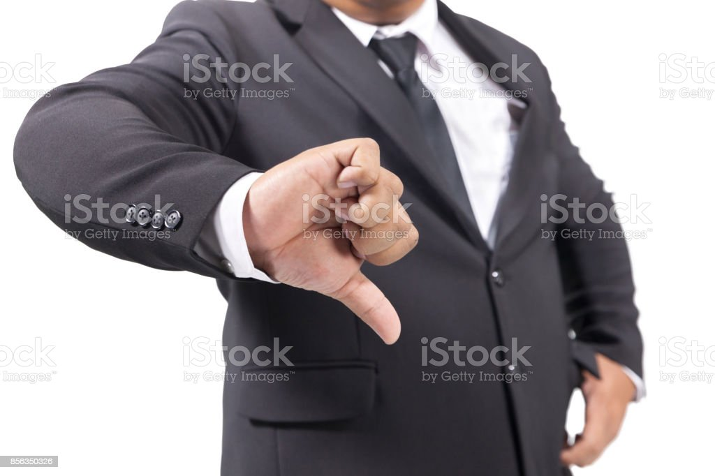 Businessman In Suit unlike hand stock photo