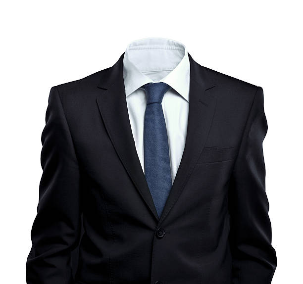 Businessman in suit with no head stock photo