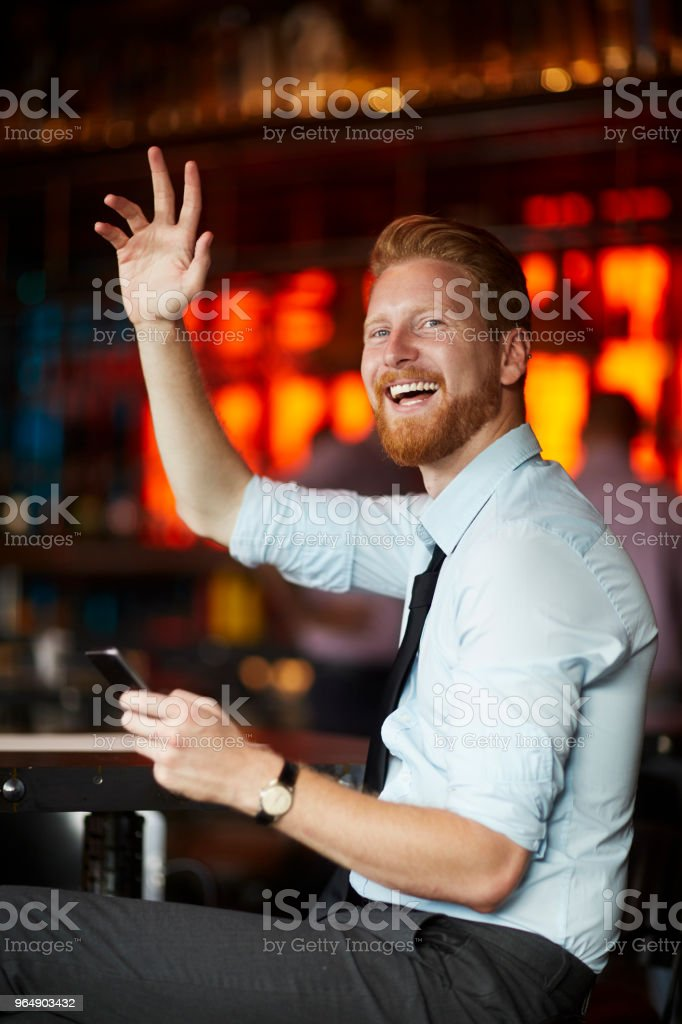 Businessman in the bar royalty-free stock photo