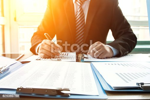 istock Businessman in the office 625389788