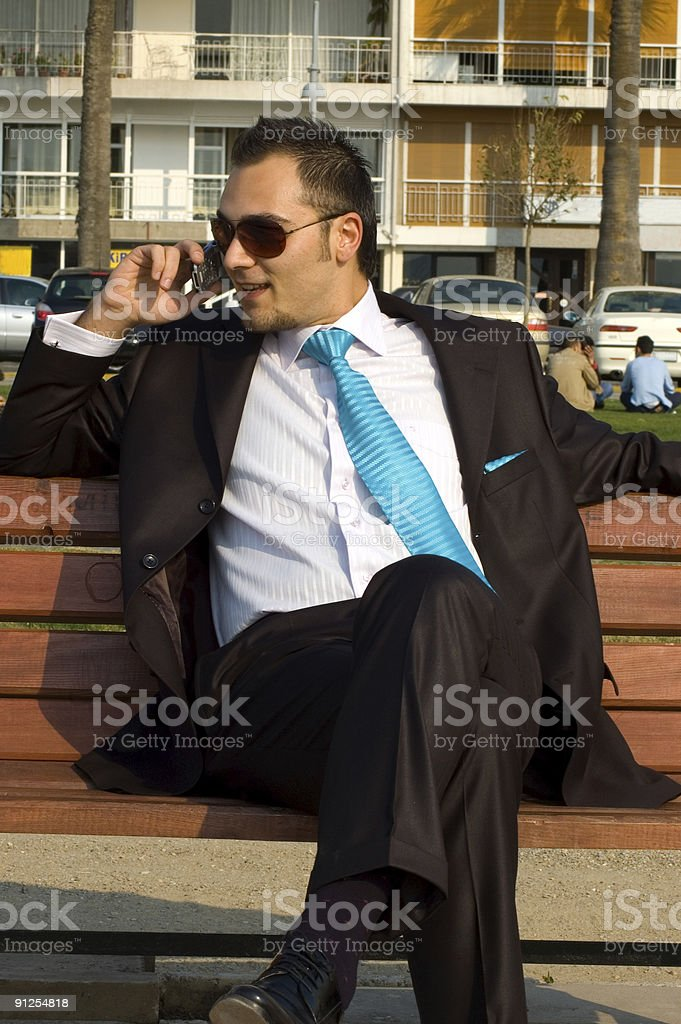 businessman in the park royalty-free stock photo