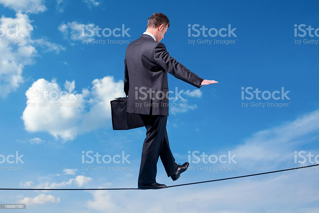 Businessman in the Sky royalty-free stock photo