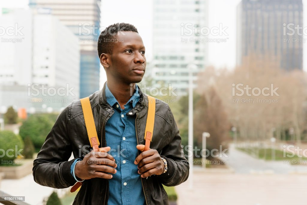 Businessman in the Street. stock photo