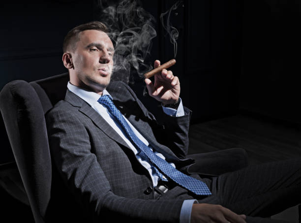 Businessman in the studio portrait (HDR ver) stock photo
