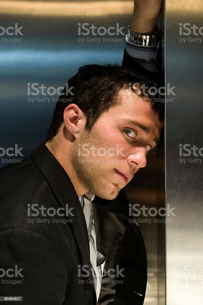 Businessman in thought royalty-free stock photo