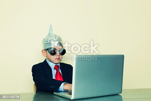 istock Businessman In Tune with Business 521113779