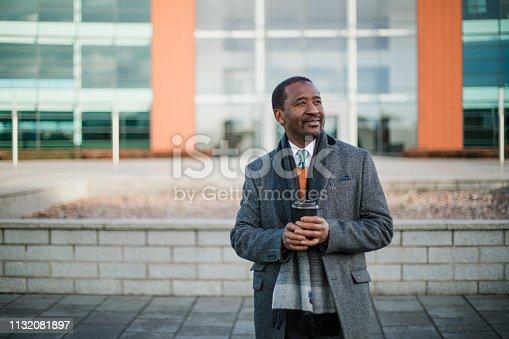 istock Businessman in Winter 1132081897