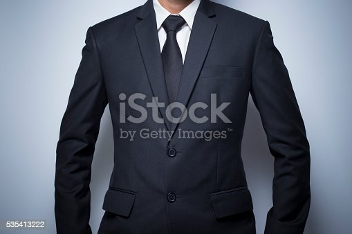 istock Businessman informal akimbo action 535413222