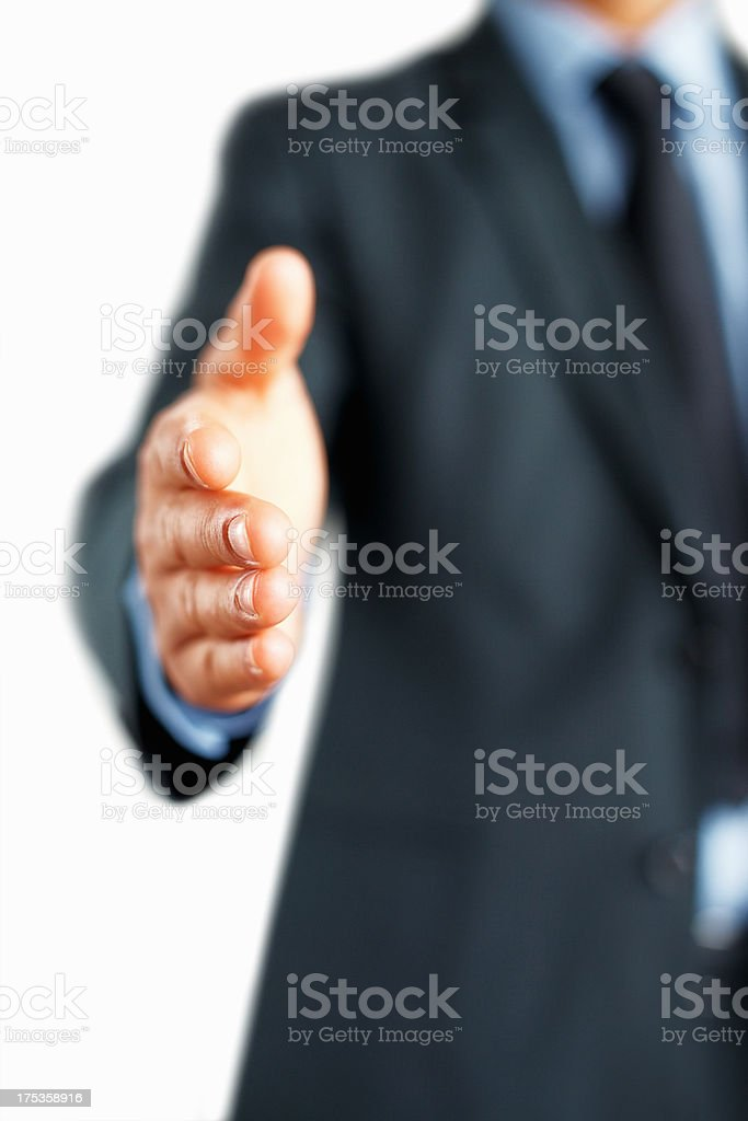 Geschäftsmann Einführung selbst Lizenzfreies stock-foto